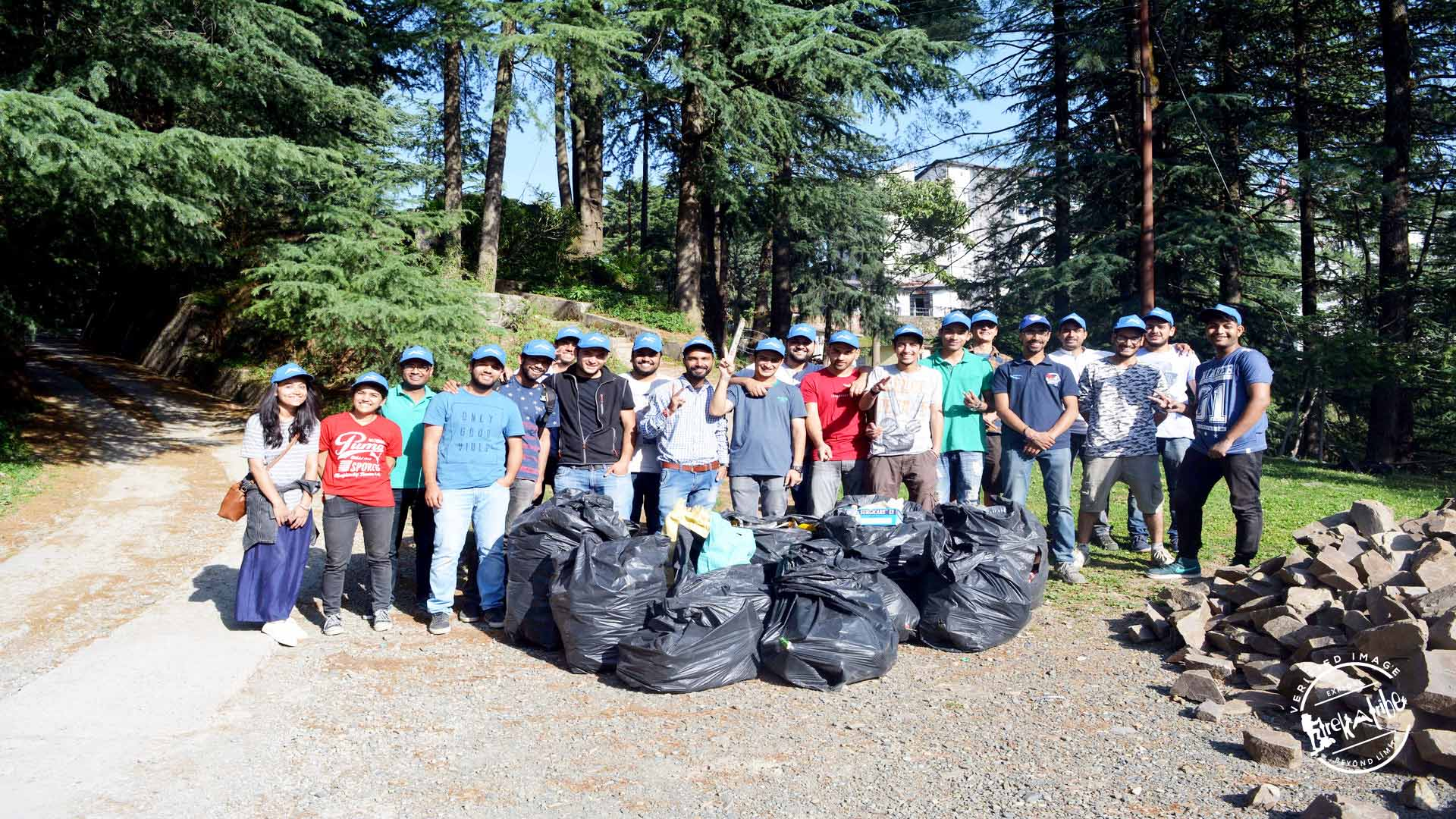 rsz cleanliness drive shimla hills - Trekatribe