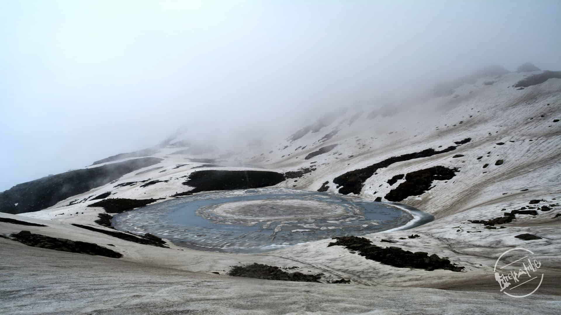 Bhrigu Lake Trekking - Bhrigu lake - also called frozen disk lake