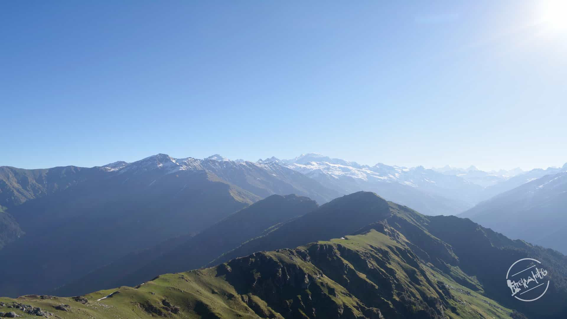 Chandrakhani pass Trekking - View of Parvati Valley