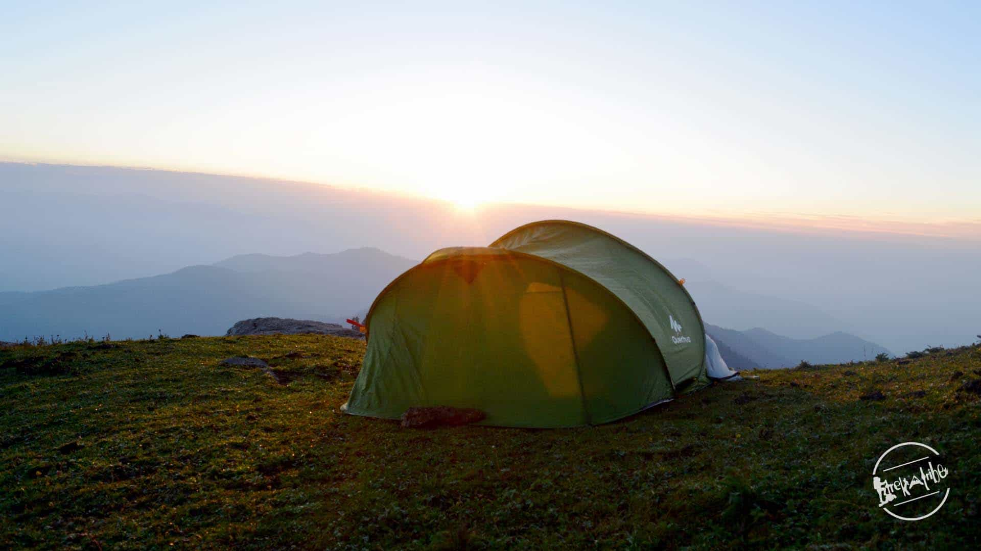 Churdhar Trek Camping - Awakening Sunrise