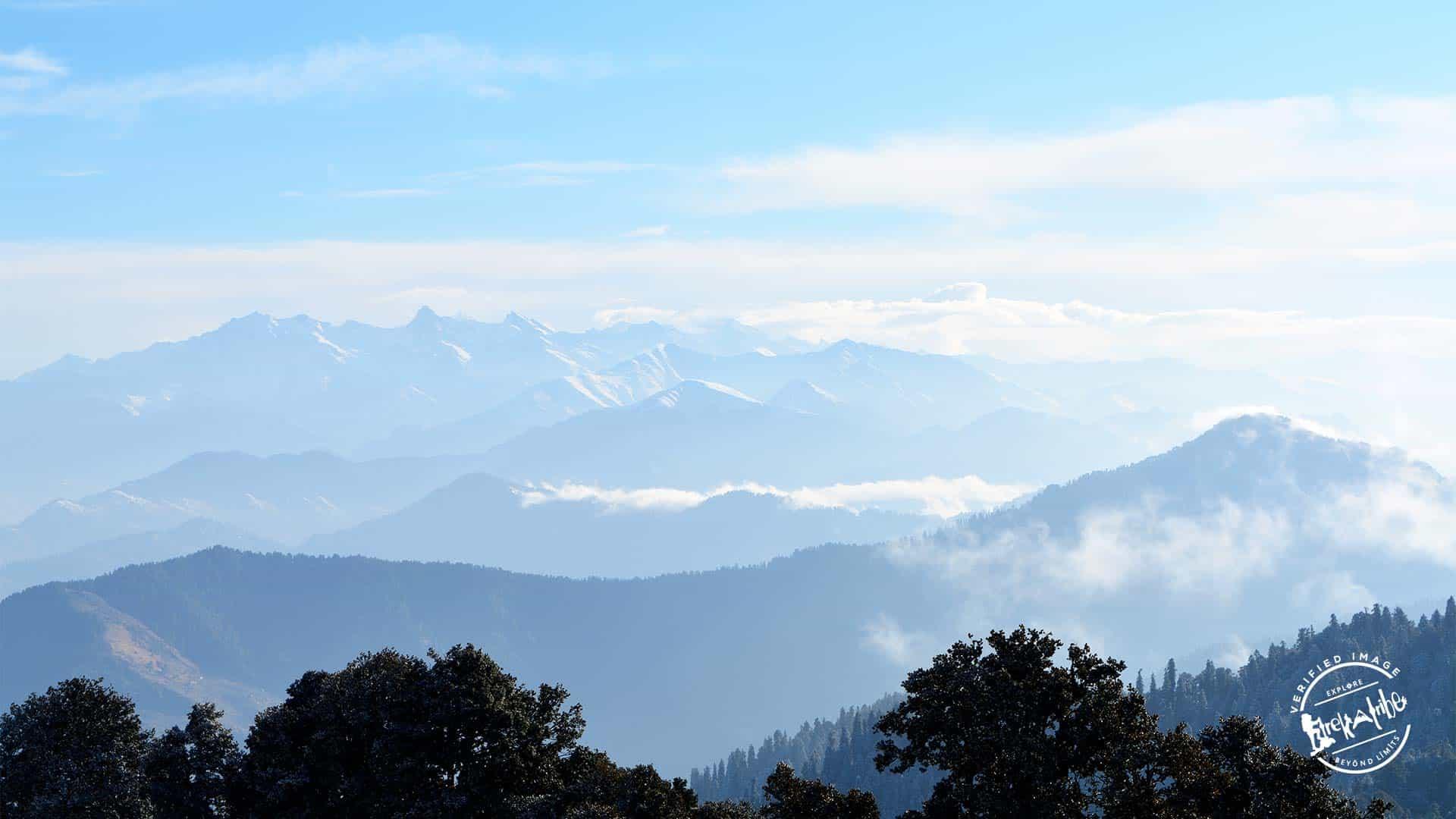 Hatu Peak Trek offering view of Shrikhand range & kinner kailash range