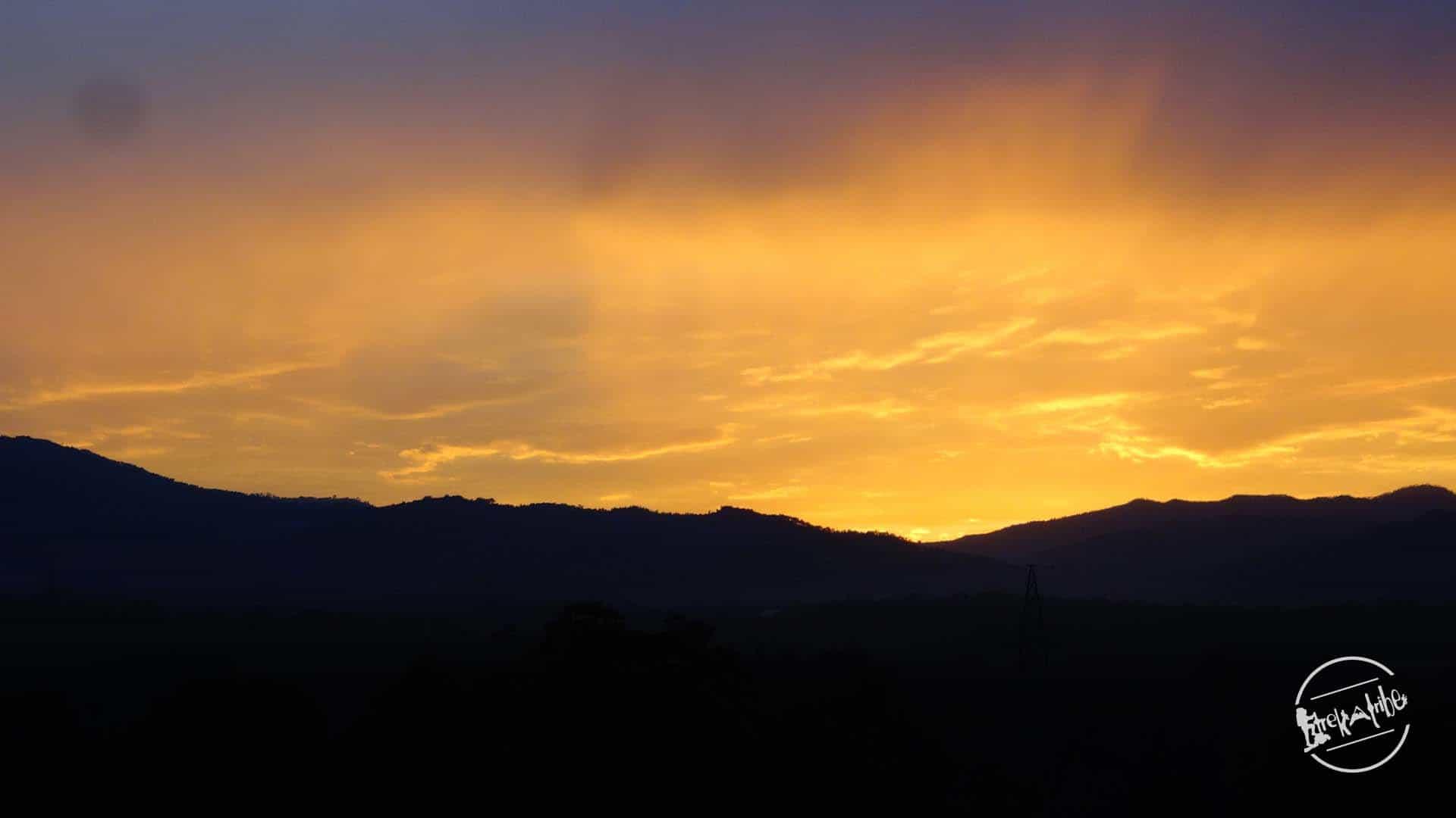 Prashar Lake Trek - beautiful Sunset view