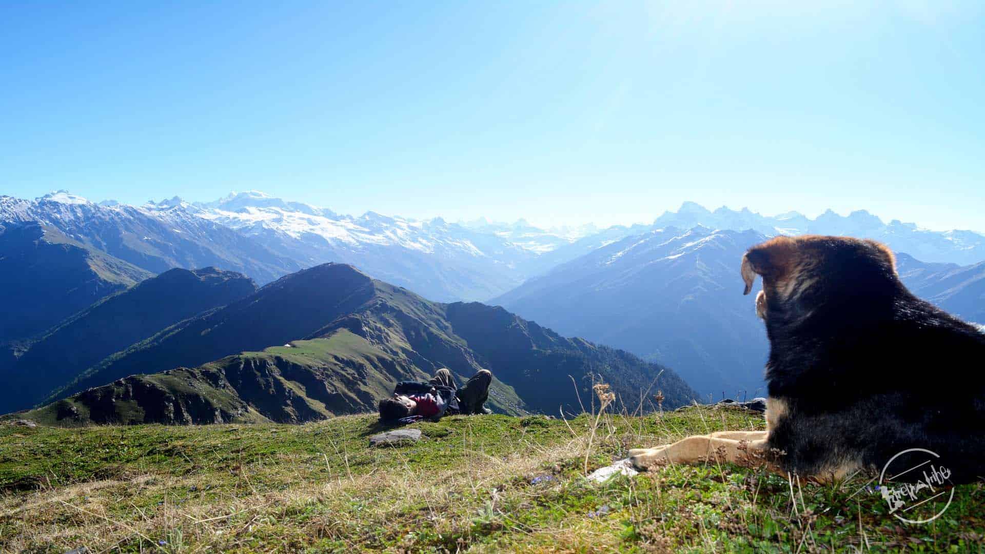View of Parvati Valley from Chandrakhani pass Trek
