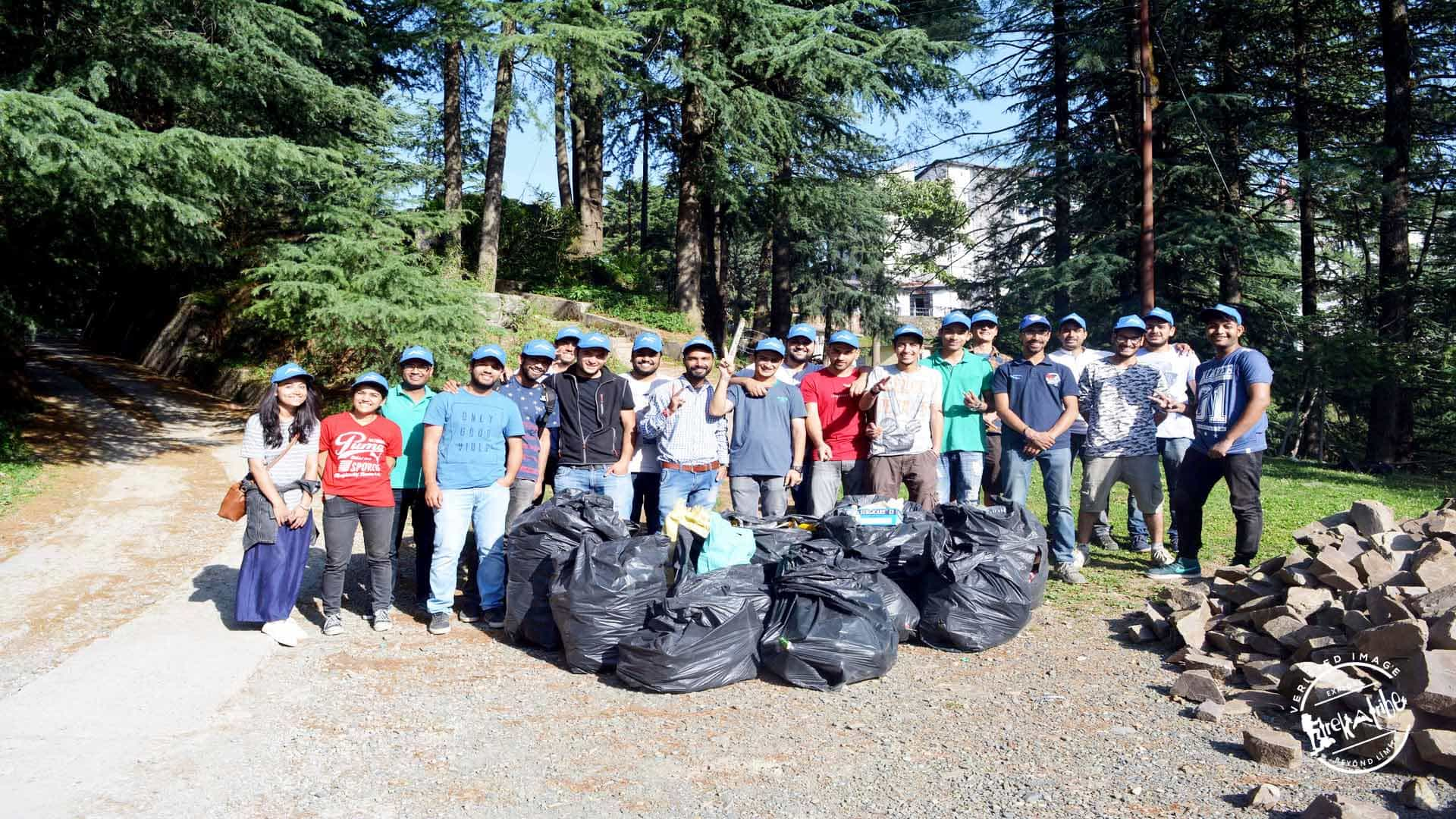 Cleanliness drive shimla - Trekatribe & Instahimachal collaboration