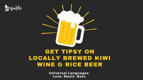 Enjoy Locally Brewed Kiwi Wine & Rice Beer