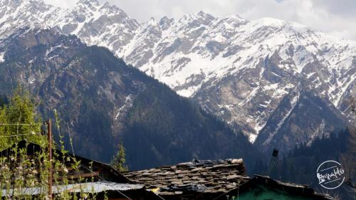 View of sar pass from grahan village