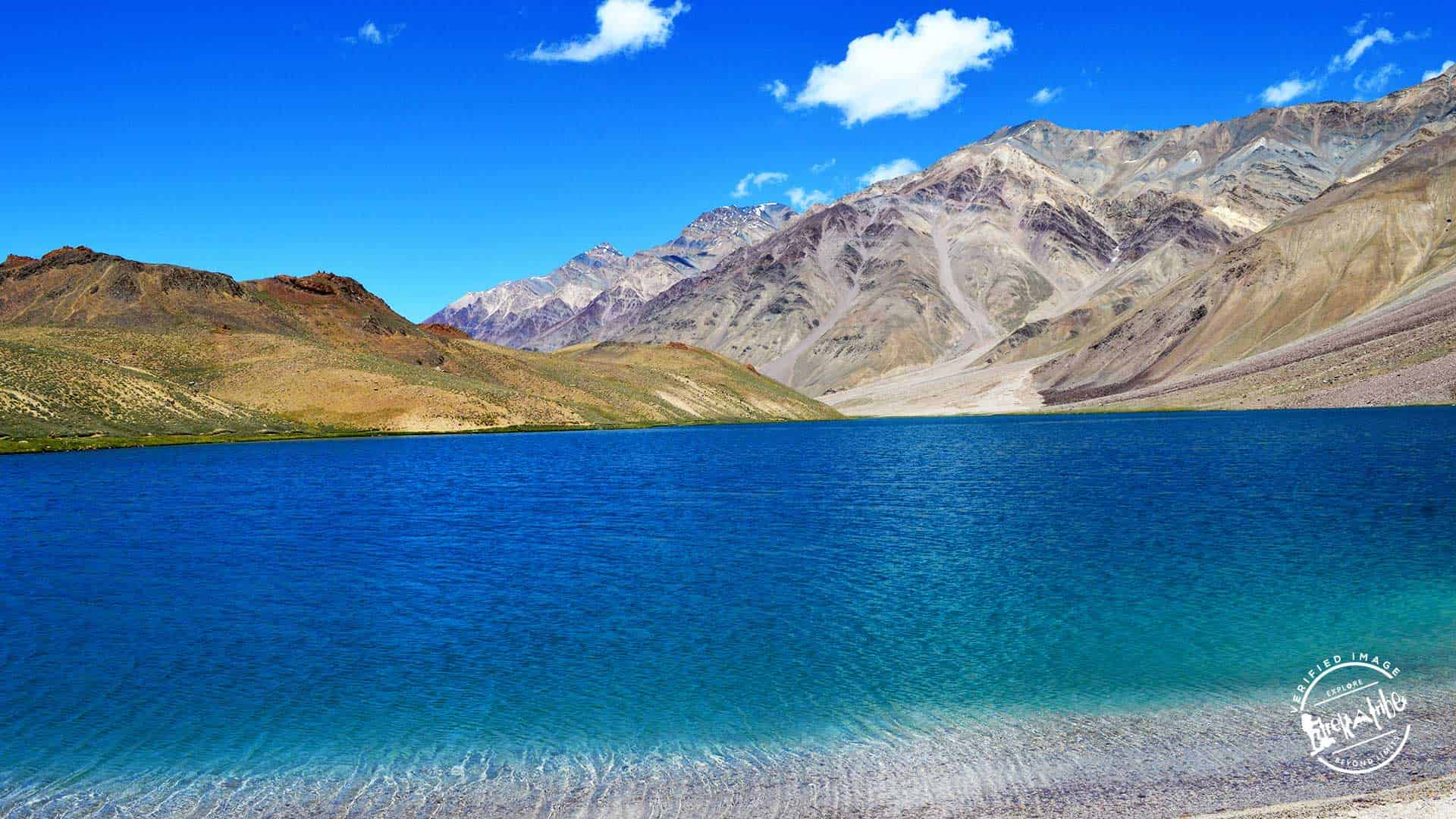 Beautiful Chandratal Lake - clear blue water