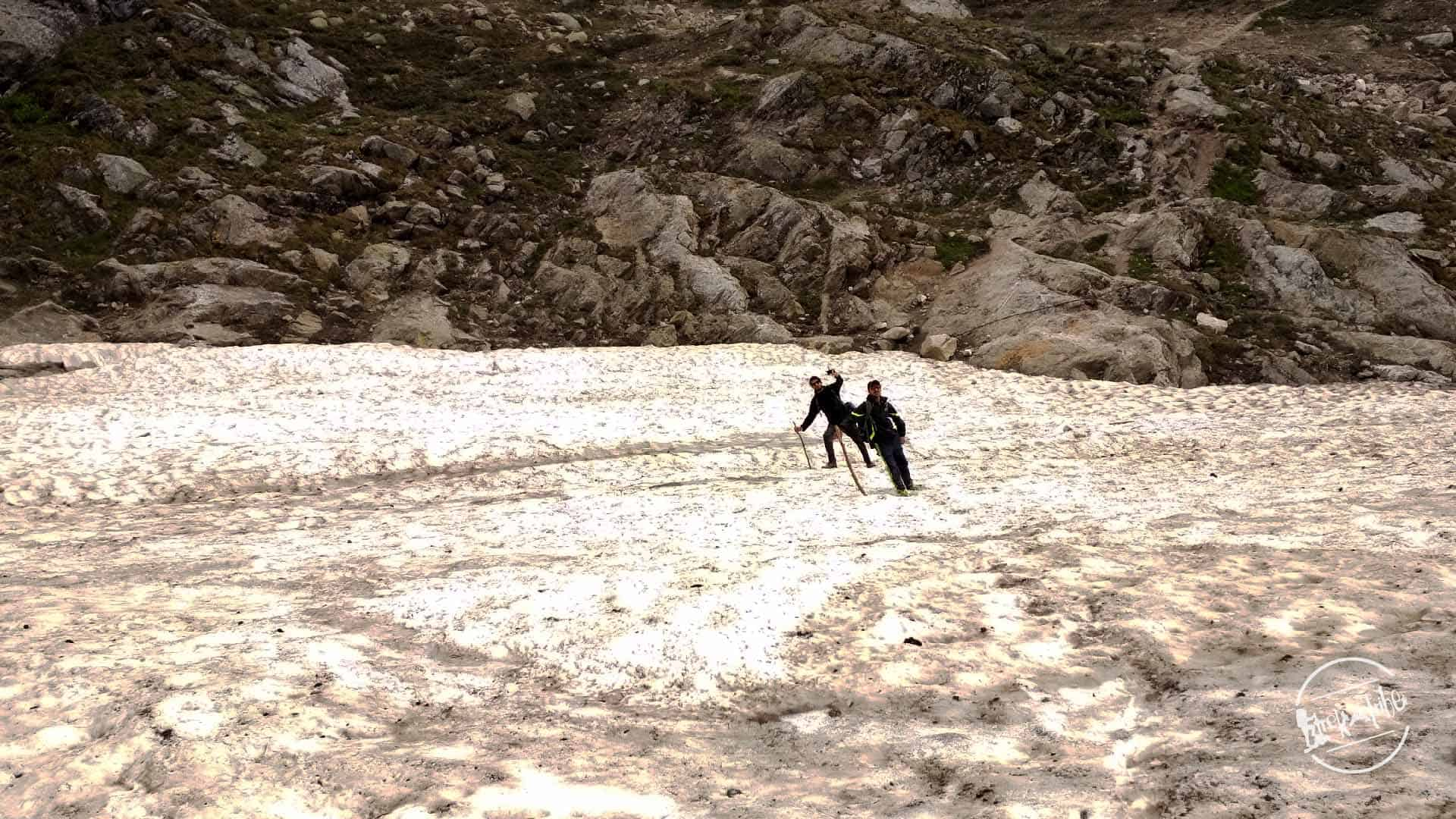 Trek to kinner kailash - crossing glacier