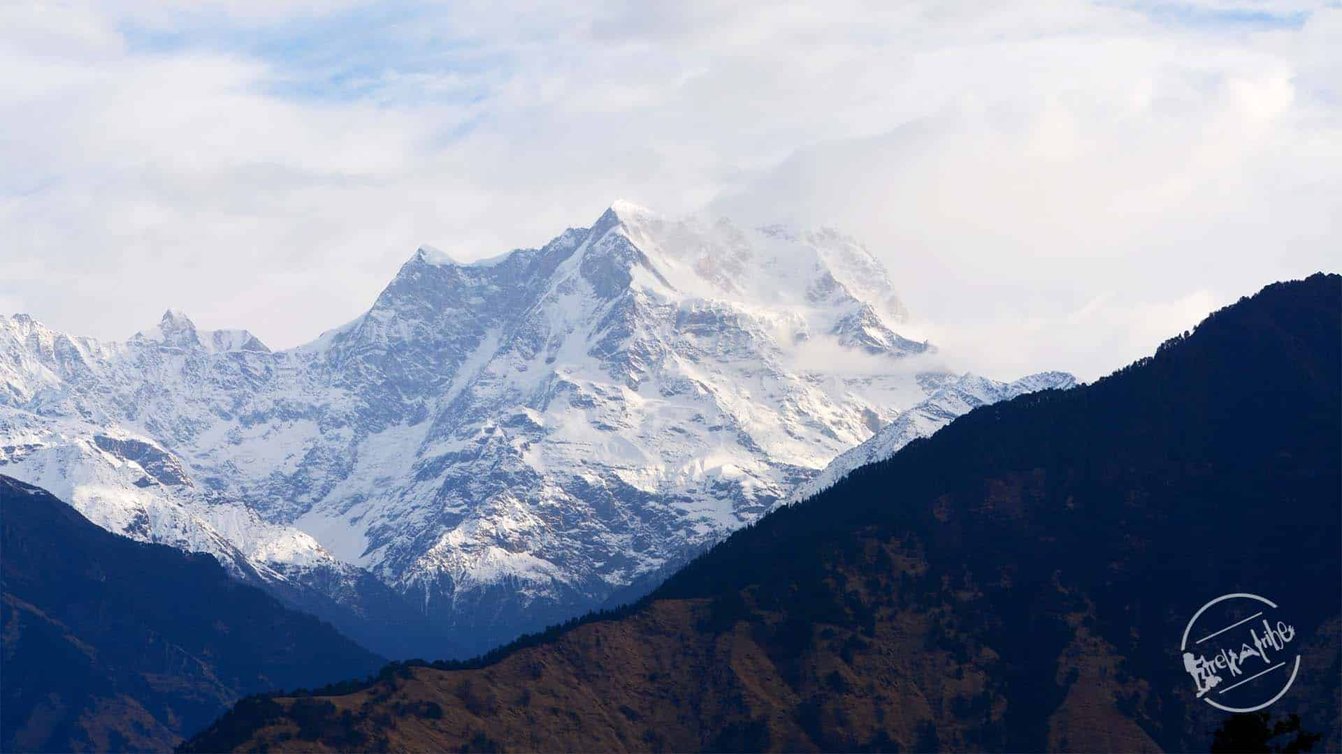 Chaukhamba Peak View from Chandershila Peak