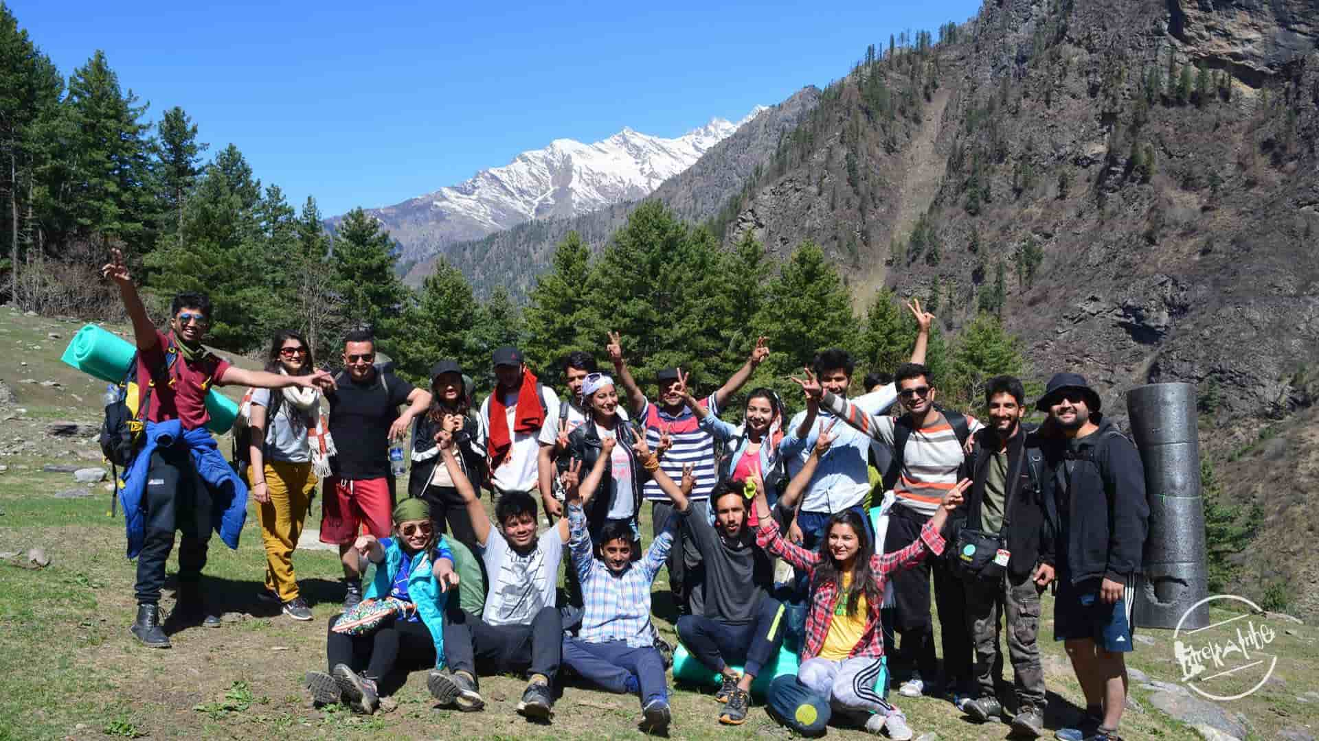 Kheerganga trek group - Parvati valley