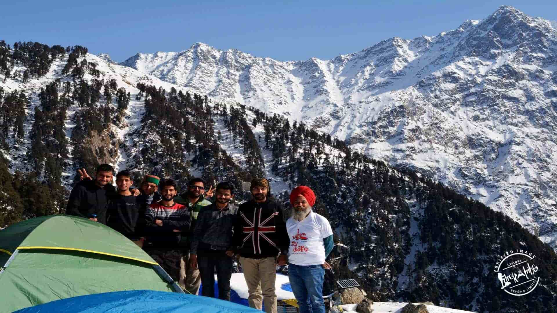 Triund trek after heavy snowfall