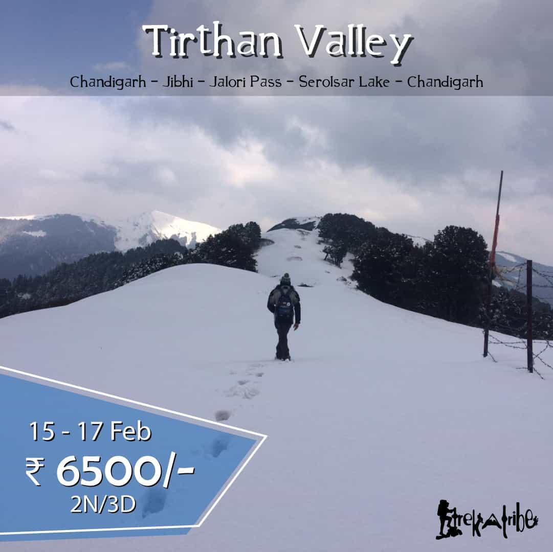 tirthan valley serolsar lake trek jibhi