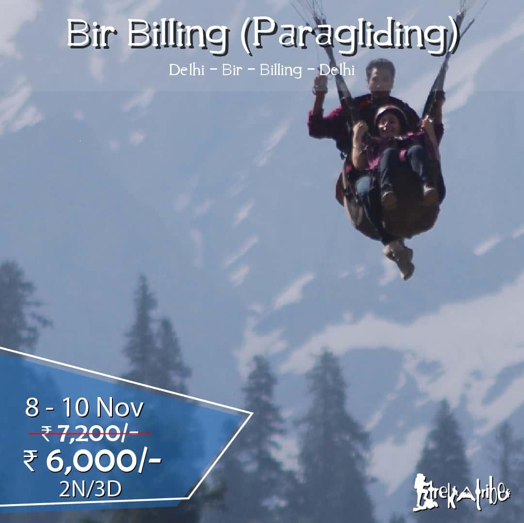 Bir Billing trek , paragliding