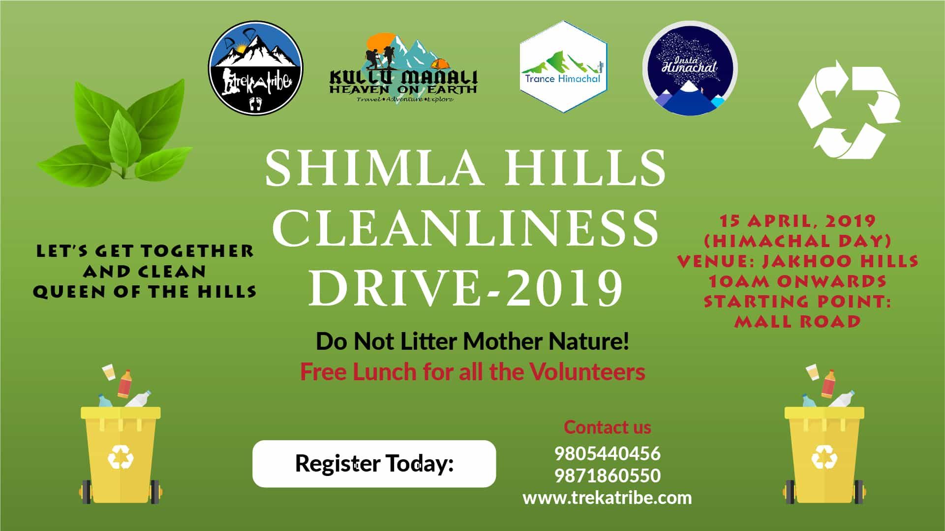 Cleanliness Drive 2019- on himachal day - Shimla