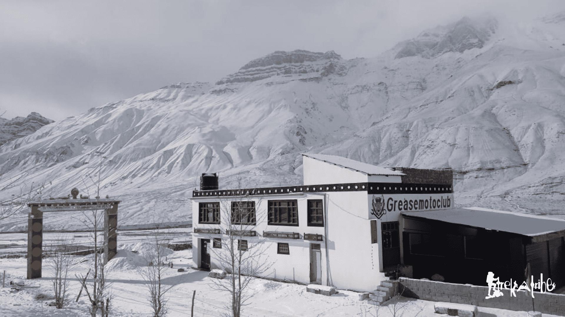 spiti in winters - kaza