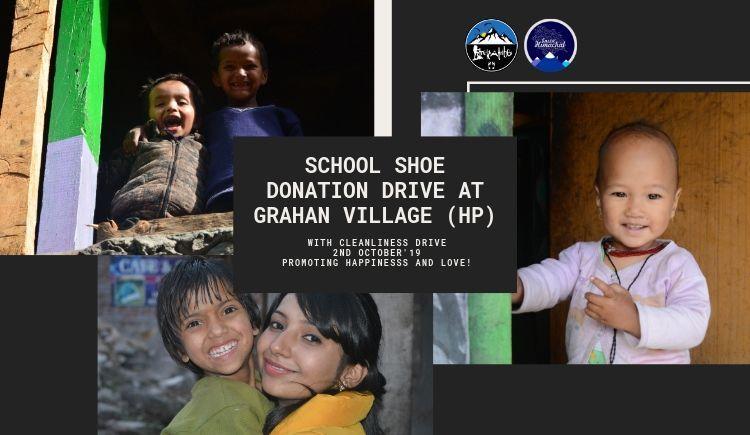 School Shoes Donation Drive at Grahan Village (HP)