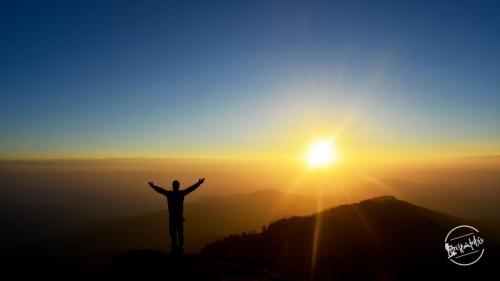 Enchanting Sunrise view at Churdhar Trek