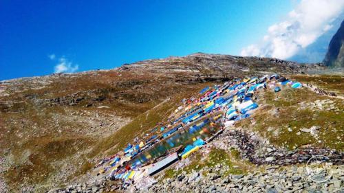Manimahesh Lake Trek Camps near lake