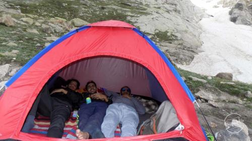 Relax Time in Tent - Kinner Kailash