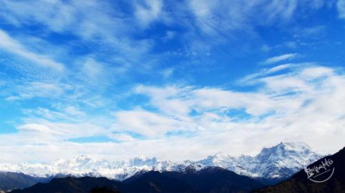 View of Gharwal Himalayas From Deoriatal