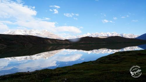 Reflection of mountains - Chandratal Lake