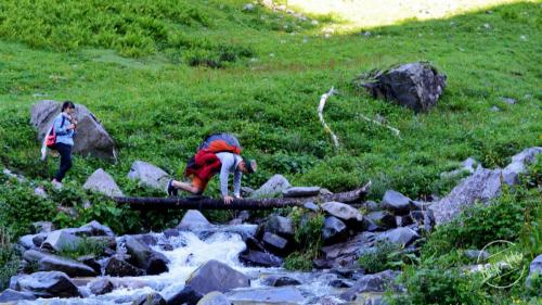 Water stream on the way to Chandernahan Lake